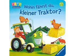 Wohin faehrst du kleiner Traktor