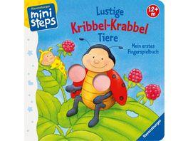 ministeps Buecher Lustige Kribbel Krabbel Tiere Mein erstes Fingerspielbuch Ab 12 Monaten