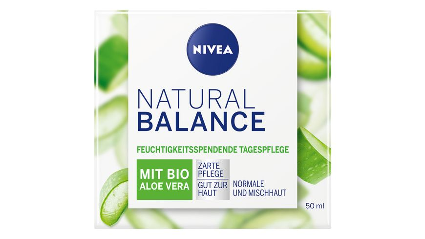 NIVEA Natural Balance Feuchtigkeitsspendende Tagespflege mit Aloe Vera