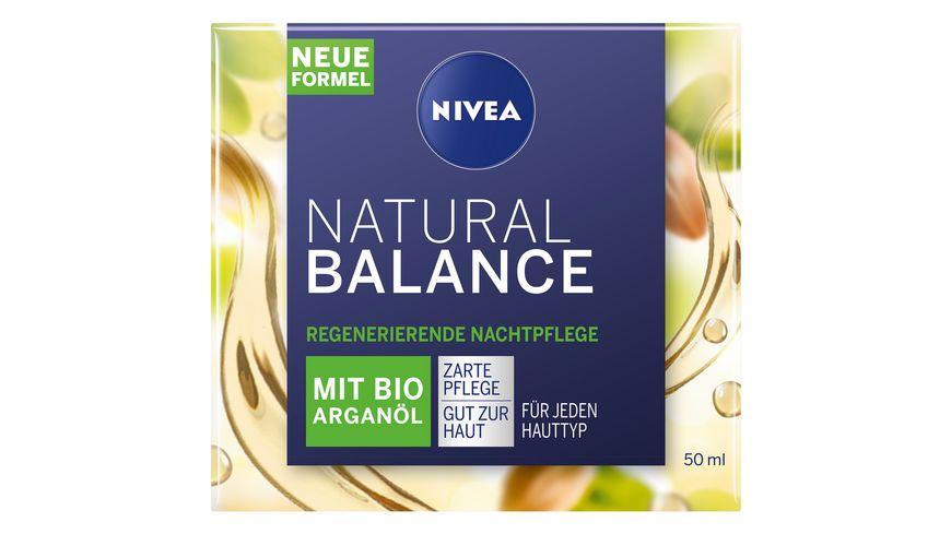 NIVEA Natural Balance Regenerierende Nachtpflege mit Bio Arganoel