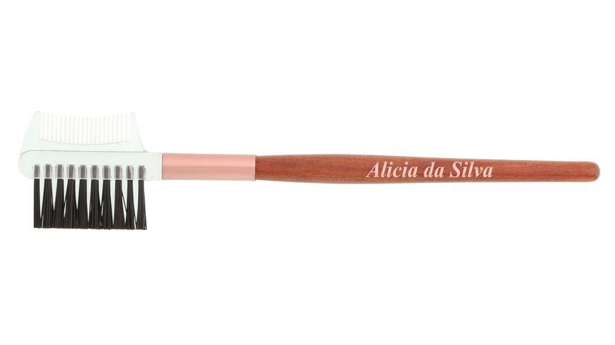 Alicia da Silva Augenbrauenbürste mit Kamm aus Holz