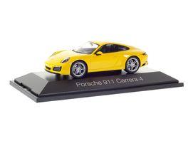 Herpa 071086 Porsche 911 Carrera 4 Coupe racing gelb