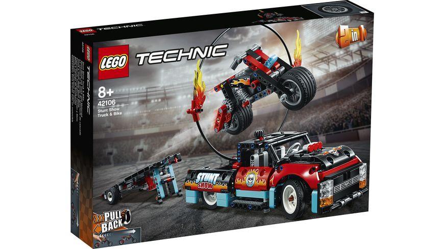 LEGO Technic 42106 Stunt Show mit Truck und Motorrad