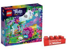 LEGO TROLLS WORLD TOUR 41256 Regenbogen Raupenbus