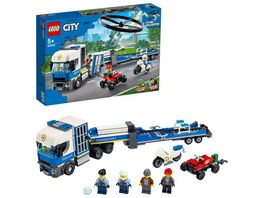 LEGO City 60244 Polizeihubschrauber Transport