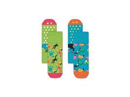 Happy Socks Kinder Anti Slip Socke Banana 2er Pack