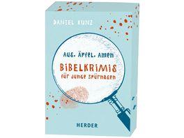 Aus Aepfel Amen Bibelkrimis fuer junge Spuernasen