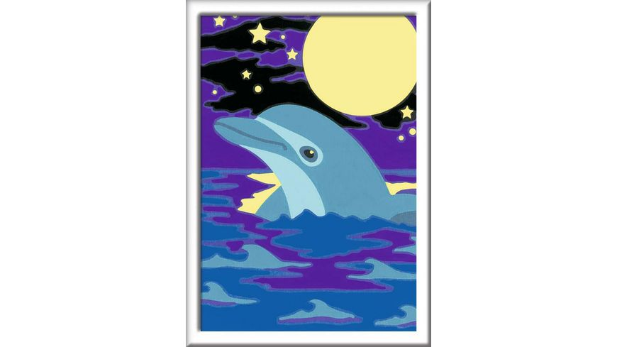 Ravensburger Beschaeftigung Malen nach Zahlen Kleiner Delfin