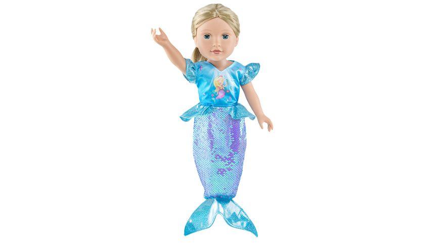 Heless Kleid Meerjungfrau Ava mit Wendepailletten Gr 35 45 cm