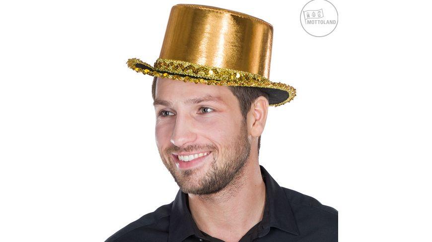 Mottoland 41488812 Zylinder Paillettenband gold