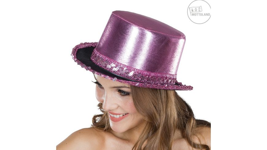 Mottoland 41488816 Zylinder Paillettenband rosa