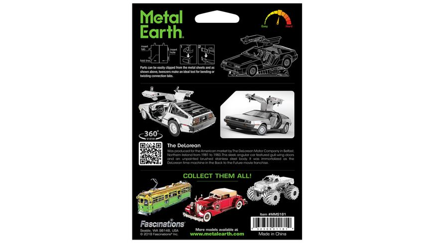 Metal Earth 502447 Delorean
