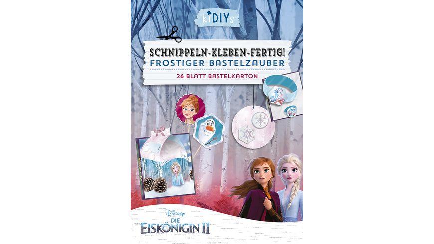 kiDIYs Schnippeln Kleben Fertig Die Eiskoenigin 2 26 Blatt Bastelkarton