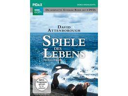 Spiele des Lebens Trials of Life Die komplette 12 teilige Reihe von und mit Sir David Attenborough Pidax Doku Highlights 4 DVDs