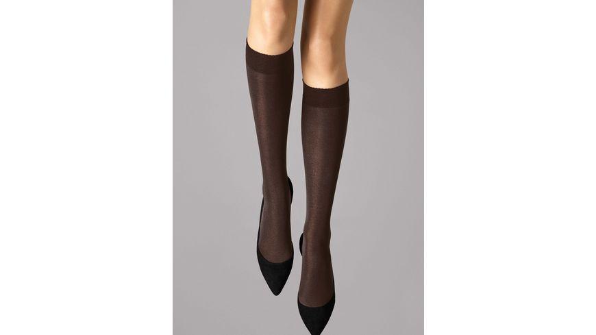 Wolford Damen Kniestrumpf Velvet de Luxe Knee Highs 50