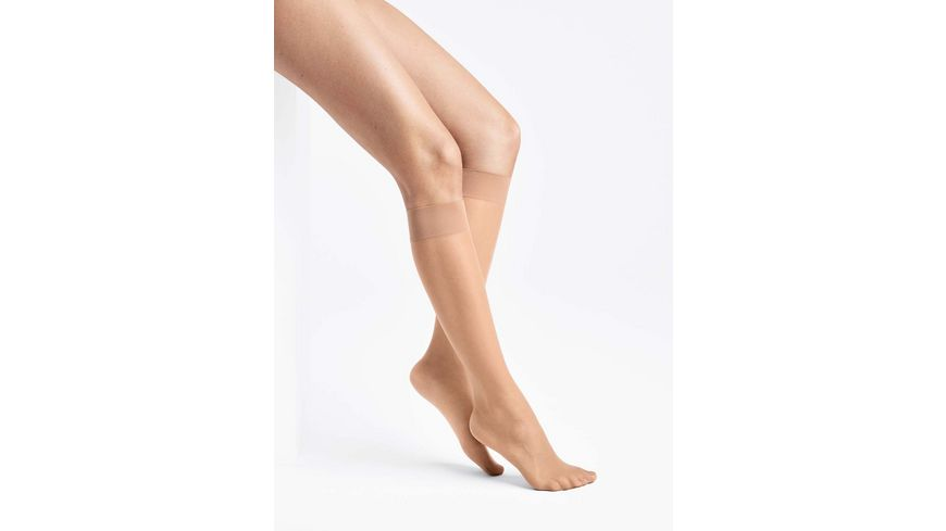 Wolford Damen Feinkniestrumpf Sheer Knee Highs 15