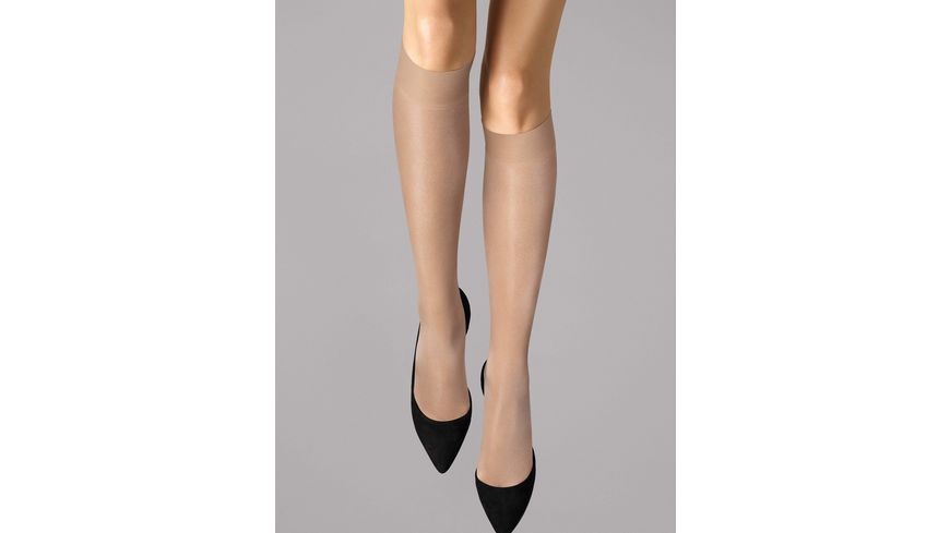 Wolford Damen Feinkniestrumpf Satin Touch Knee Highs 20