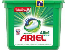Ariel All in 1 PODS Universal Strahlend Rein 22Waschladungen