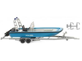 WIKING 009545 Polizei Mehrzweckboot MZB 72 Lehmar 1 87