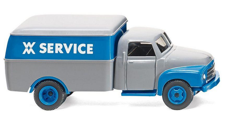 Wiking 0354 02 Kastenwagen Opel Blitz WM Service 1 87