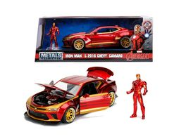 Jada Marvel Metals Die Cast Iron Man 2016 Chevy Camaro 1 24