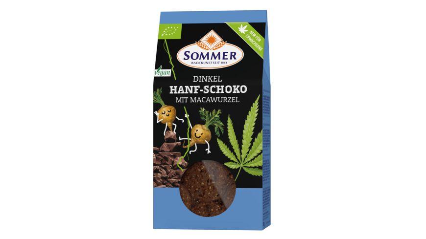 SOMMER Dinkelkekse Hanf Schoko mit Macawurzel 150g