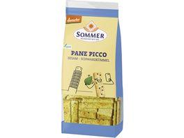 SOMMER Dinkel Pane Picco Sesam Schwarzkuemmel 150g