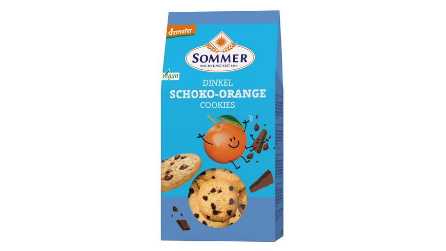 SOMMER Dinkel Schoko Orange Cookies 150g