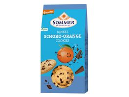 SOMMER Dinkel Schoko Orange Cookies 150g