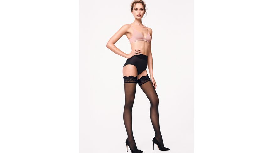Wolford Damen Halterlose Struempfe Velvet Light Stay Up 40 DEN