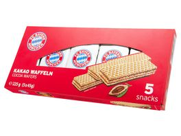 FC BAYERN MUeNCHEN Waffeln mit Schokoladencreme 225g 5x45g