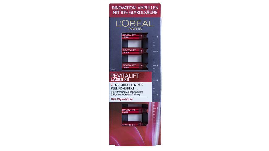 L OREAL PARIS REVITALIFT Laser x3 7 Tage Ampullen Kur Peeling Effekt