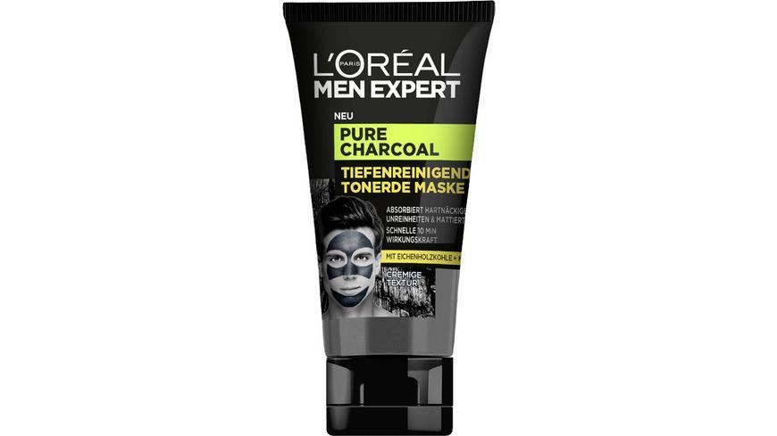 L OREAL PARIS MEN EXPERT Pure Charcoal Tiefenreinigende Tonerde Maske
