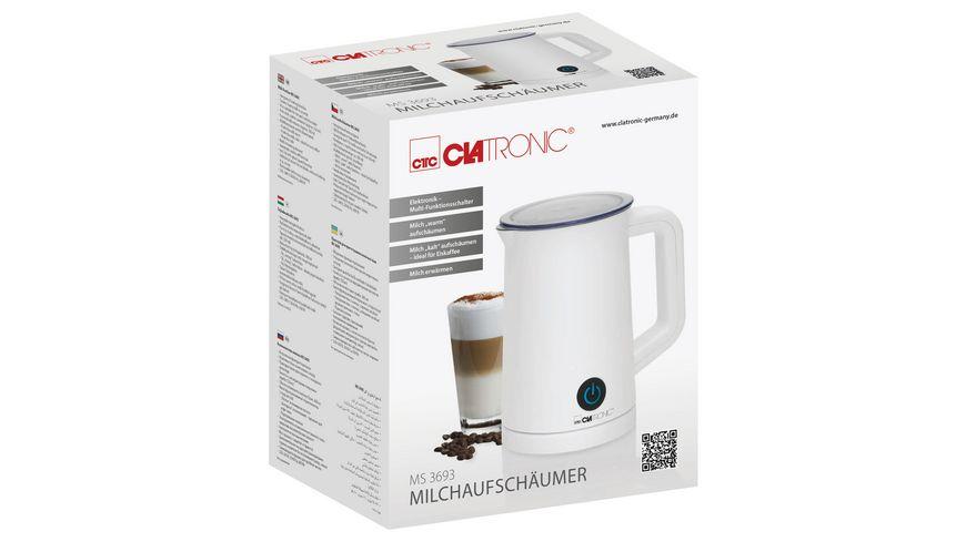 CLATRONIC MS 3693 Cordless Milchaufschaeumer weiss