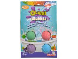 Simba Glibbi Blubber Sprudelnder Badespass Duftet und faerbt das Wasser 4 x Badespass