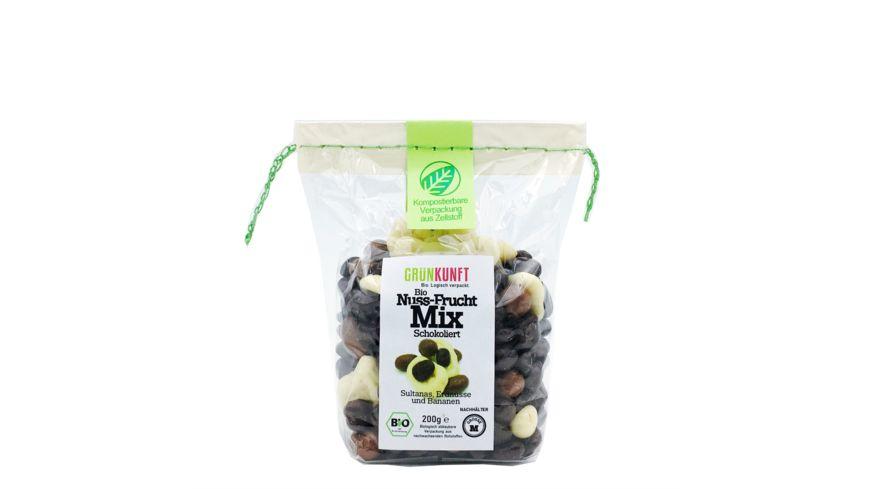 GRUeNKUNFT Bio Nuss Frucht Mix Schokolade