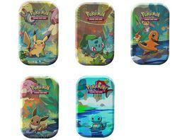 Pokemon Sammelkartenspiel Kanto Freunde Mini Tin Box 1 Stueck sortiert