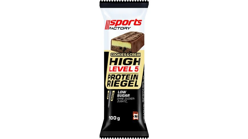 Sports Factory Proteinriegel Level 5 Cookies Cream