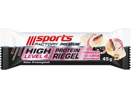SPORTS FACTORY Proteinriegel Level 4 DLX Himbeer Crisp