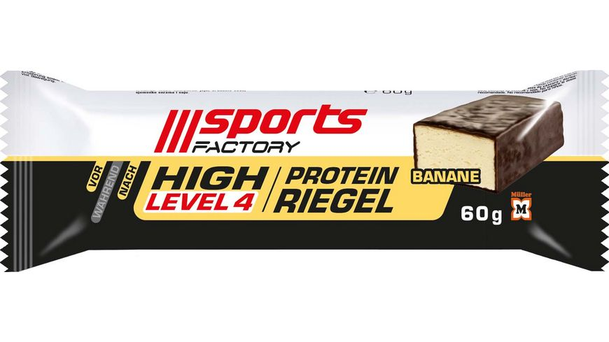 SPORTS FACTORY Proteinriegel Level 4 Banane