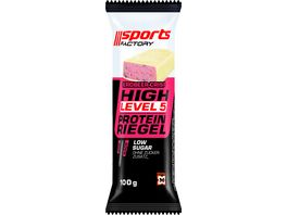 SPORTS FACTORY Proteinriegel Level 5 Strawberry Crisp