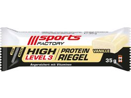 SPORTS FACTORY Proteinriegel Level 3 Vanille