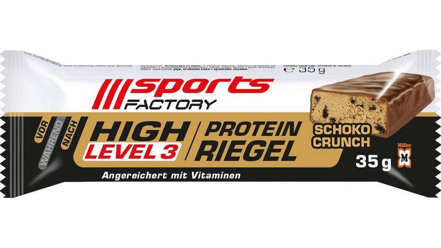 SPORTS FACTORY Proteinriegel Level 3 Schoko Crunch