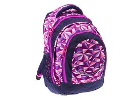 PAPERZONE Schulrucksack 3D Girl pink lila
