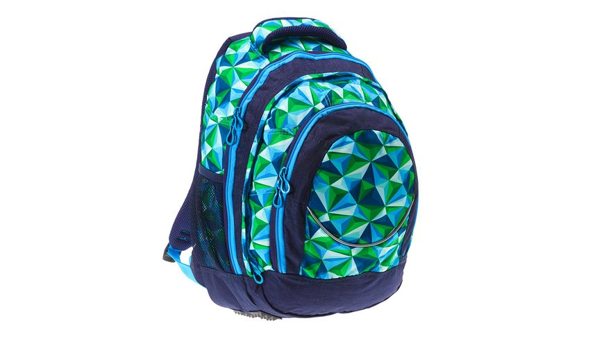 Schulrucksack 3D Boy grün-blau