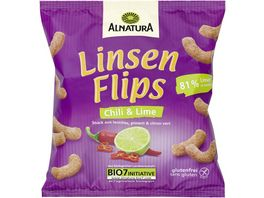 Alnatura Linsenflips Chili Lime 75G