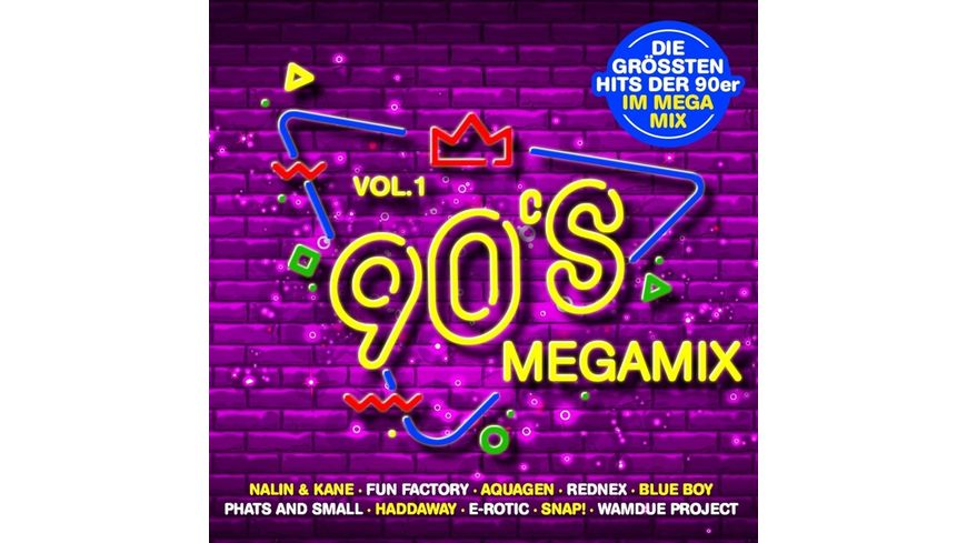 90s Megamix Vol 1 Die Grossten Hits Der 90er