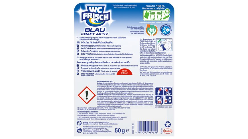 WC Frisch Kraft Aktiv Blauspueler Chlor