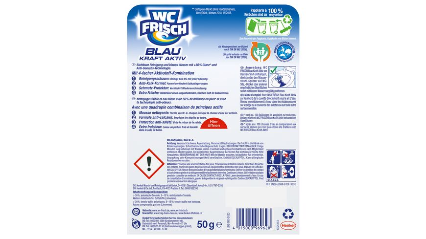 WC Frisch Kraft Aktiv Blauspueler Ozeanfrische