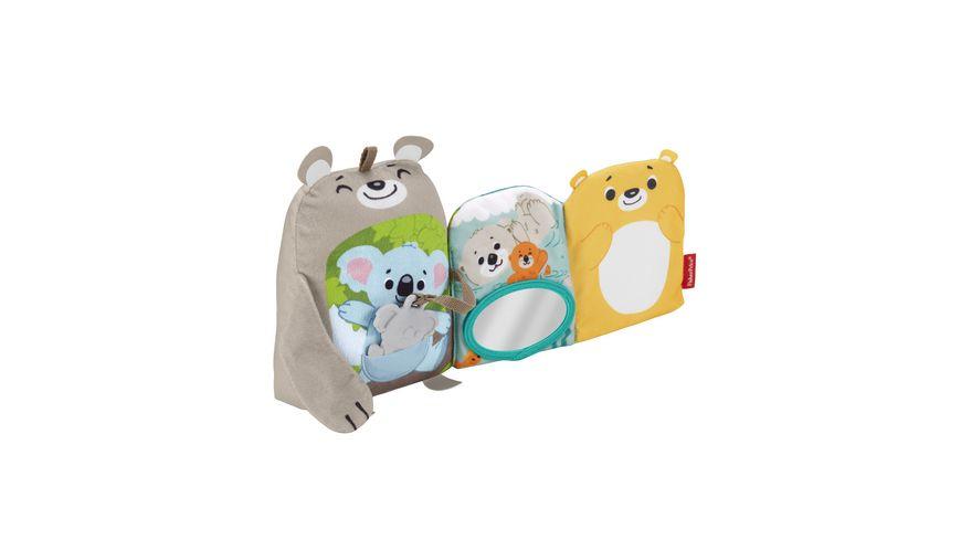 Fisher-Price Babys weiches Kuschelbuch, Baby-Spielzeug, Baby-Buch, Fühl-Buch